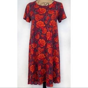 LulaRoe Carly Dress Floral Print Size XXS
